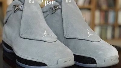 air jordan 18 cool grey sample
