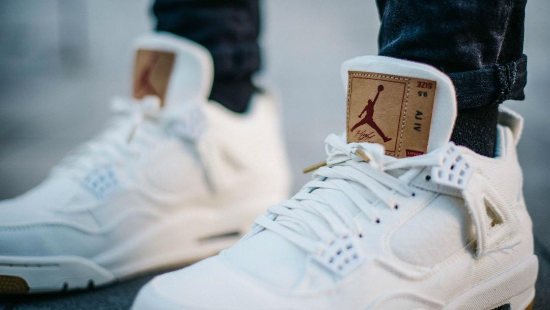 c07cf2a4e1c On-Foot Look at the Levi's Air Jordan 4 'White' - WearTesters