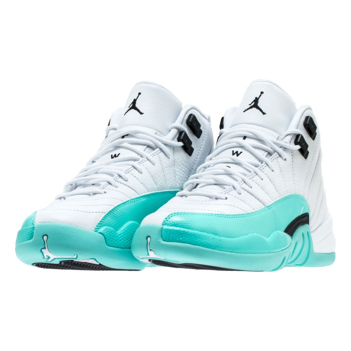 AIR JORDAN RETRO 12 GG WHITE:BLACK-LT AQUA 1