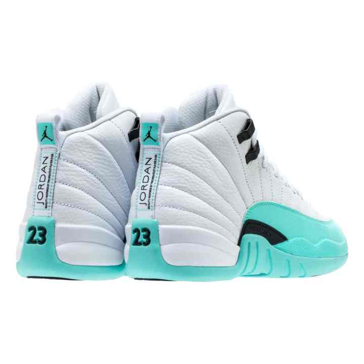 AIR JORDAN RETRO 12 GG WHITE:BLACK-LT AQUA 5