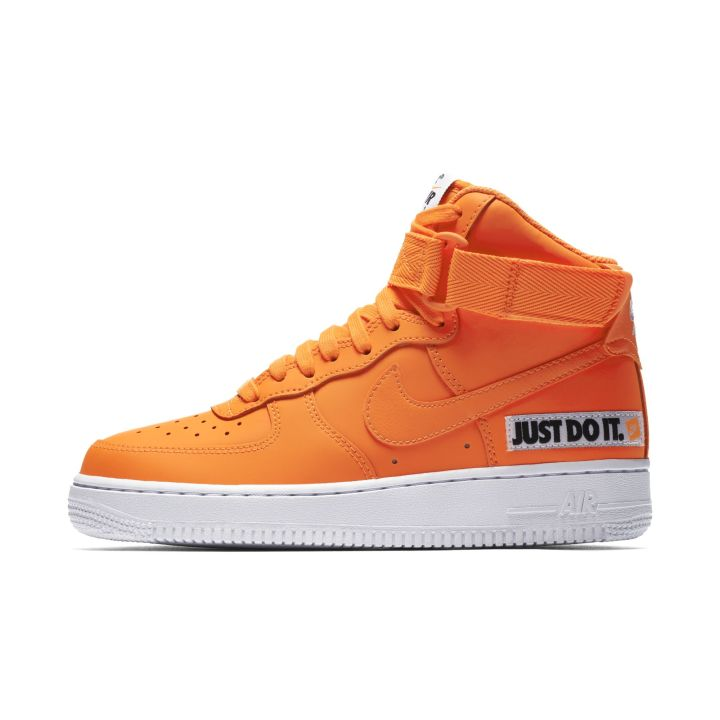 NIKE WMNS AIR FORCE 1 HIGH LX LEATHER TOTAL ORANGE WHITE 3