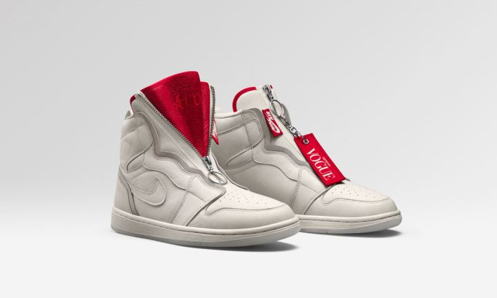 Vogue air jordan 1 Zip AWOK sail 1