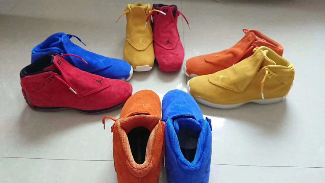 00d70d3269ee2c An Air Jordan 18  Primary Color  Pack Release Date Has Surfaced ...