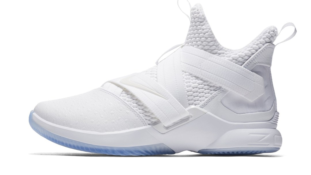 The Nike LeBron Soldier 12  Triple White  Releases Next Month ... 9a445d049778