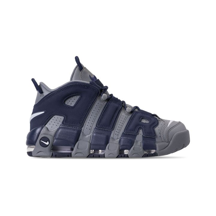 NIKE AIR MORE UPTEMPO '96 COOL GREY:WHITE-MIDNIGHT NAVY 2