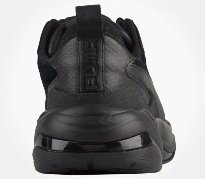 puma thunder desert triple black heel
