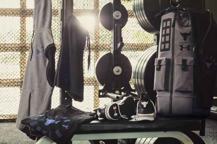 Dwayne Johnson under armour all day hustle collection apparel