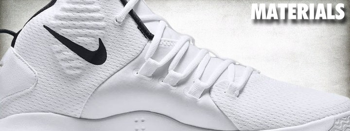 newest 16a73 b1b44 If there is area that lags behind the others on the Hyperdunk X, it is  materials. The shoe features a textile upper with strategic foam backing  (although it ...