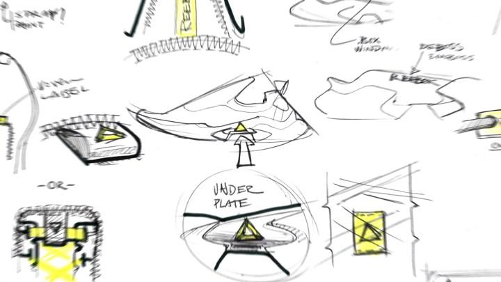 Reebok sole fury design sketch
