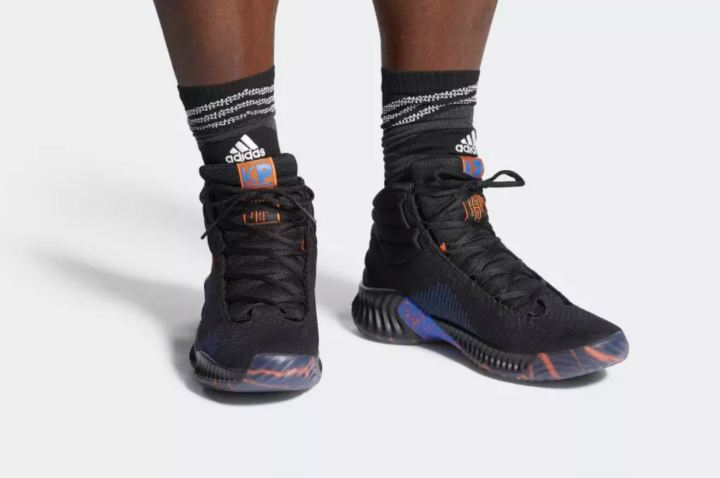 adidas pro bounce kristaps porzingis PE on foot