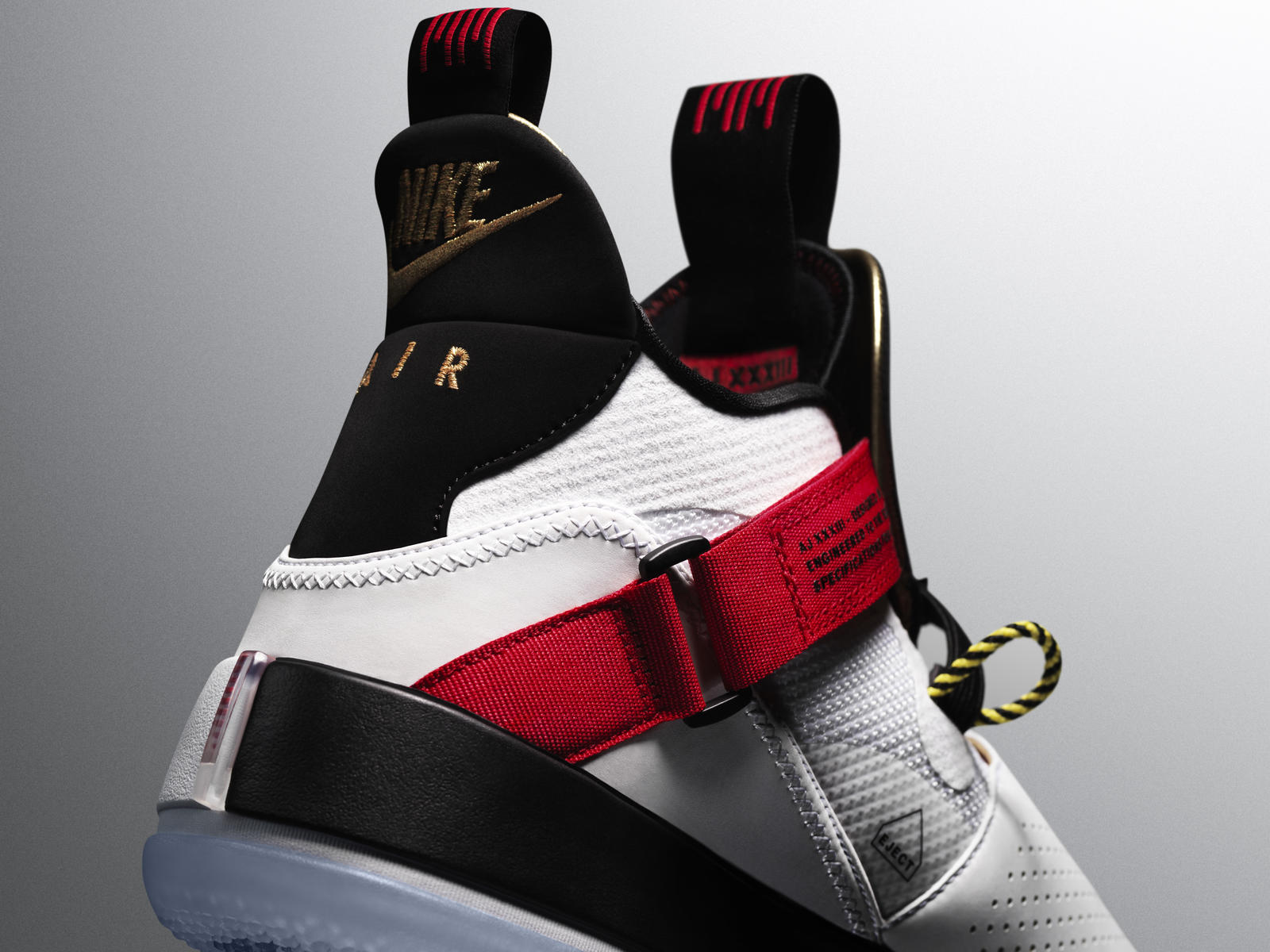 Fashion Jewelry Shoe Charms 1 Pair New Jordan 6 Black With Red Jumpman Replacement Lace Locks Fire Red For Improving Blood Circulation