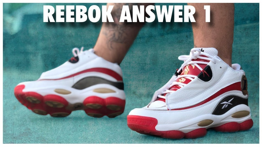on sale 030d1 c27e4 Reebok Answer 1 White Red   Detailed Look and Review - WearTesters
