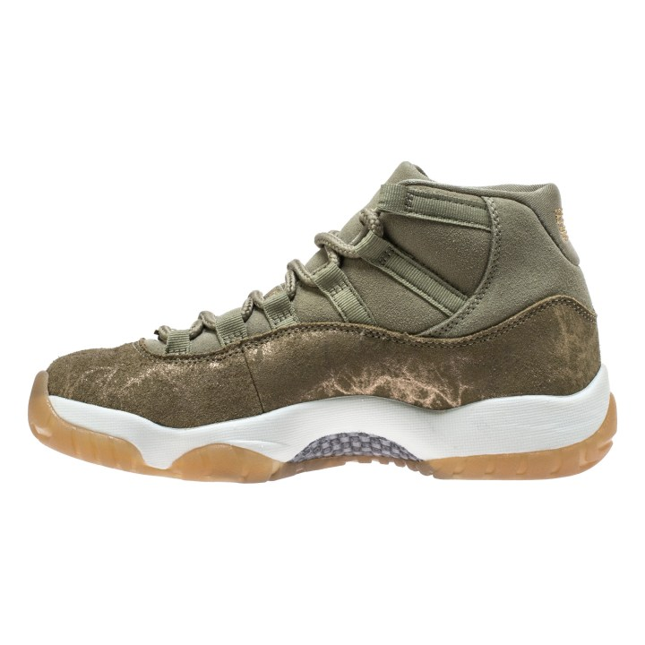 WMNS AIR JORDAN 11 RETRO NEUTRAL OLIVE:MTLC STOUT-SAIL 3