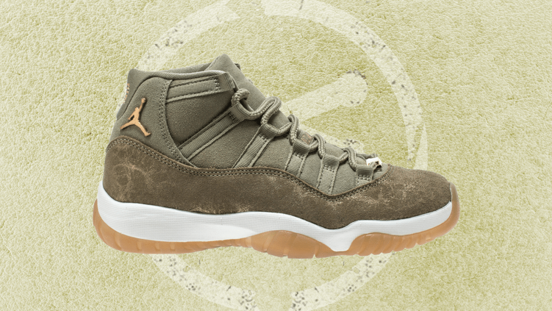 9dc6a7354c3f The Women s Exclusive Air Jordan 11  Olive Lux  Arrives in November ...