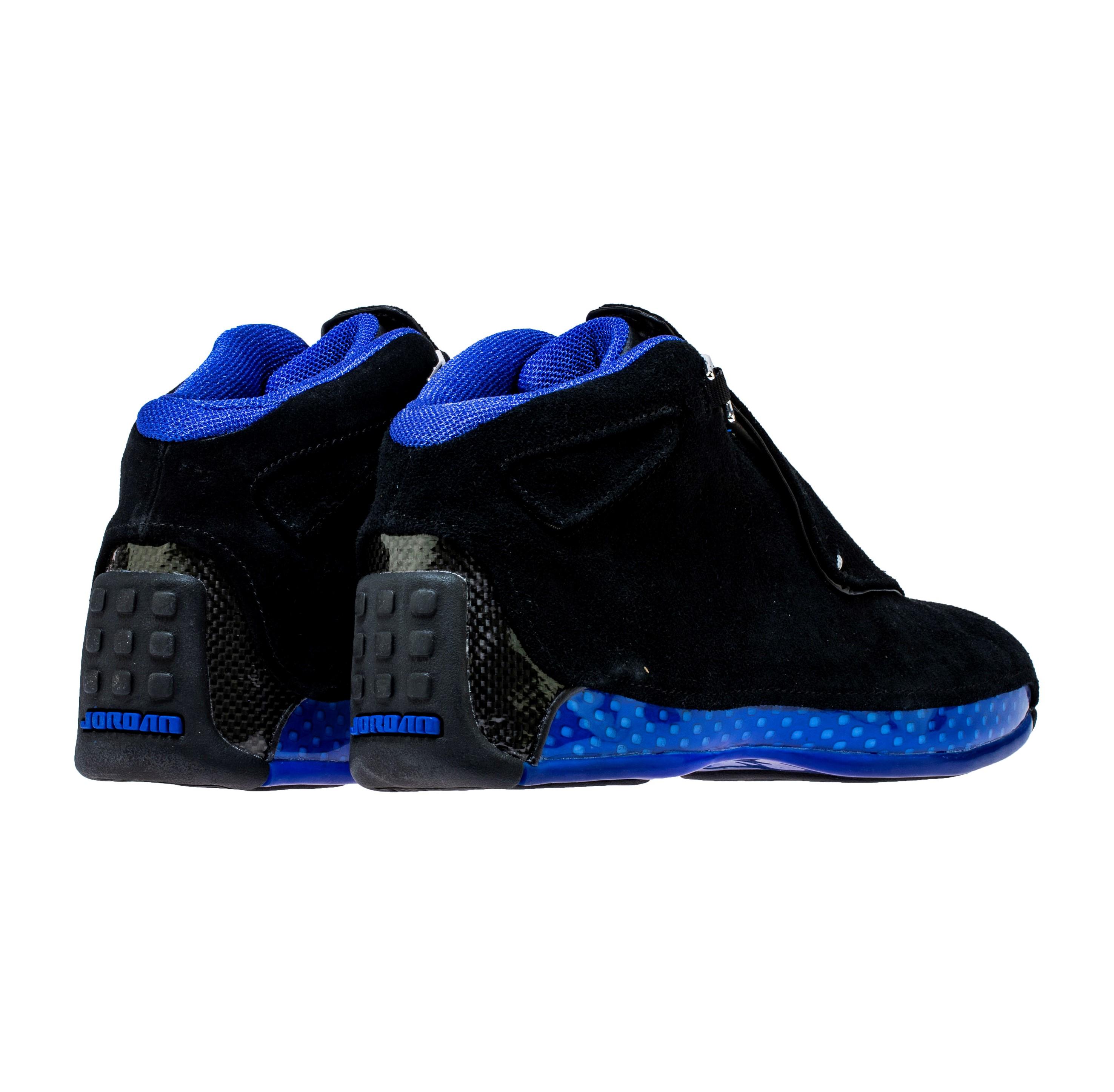 2e18a7e044a28e air jordan 18 black sport royal release date - WearTesters