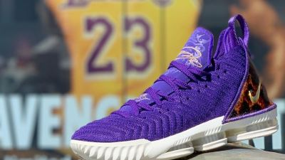 lebron 16 king court purple foot locker the hunt