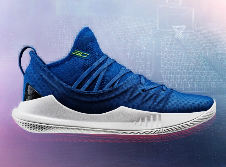 under armour curry 5 moroccan blue on foot