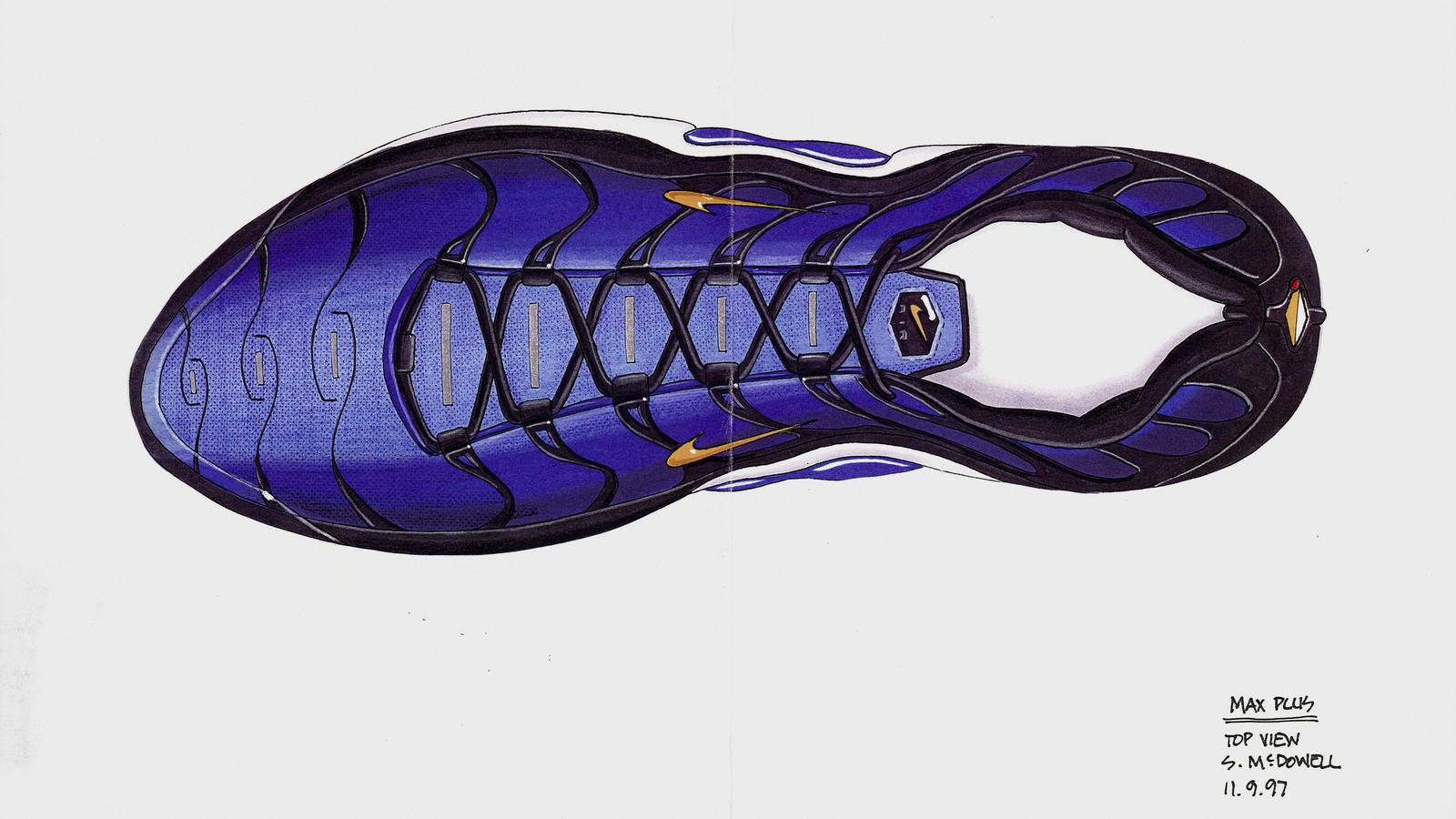 e502a94a351f83 Nike air Max Plus TN original sketch sean mcdowell top down ...