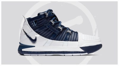 997b9d1547c2 The Nike Lebron 3 QS White Navy Could be Releasing