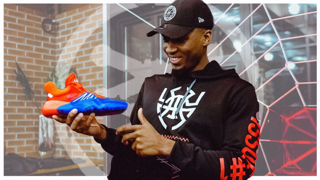 cheap for discount afb8d 5ae67 adidas and Donovan Mitchell Unveil His First Signature Sneak