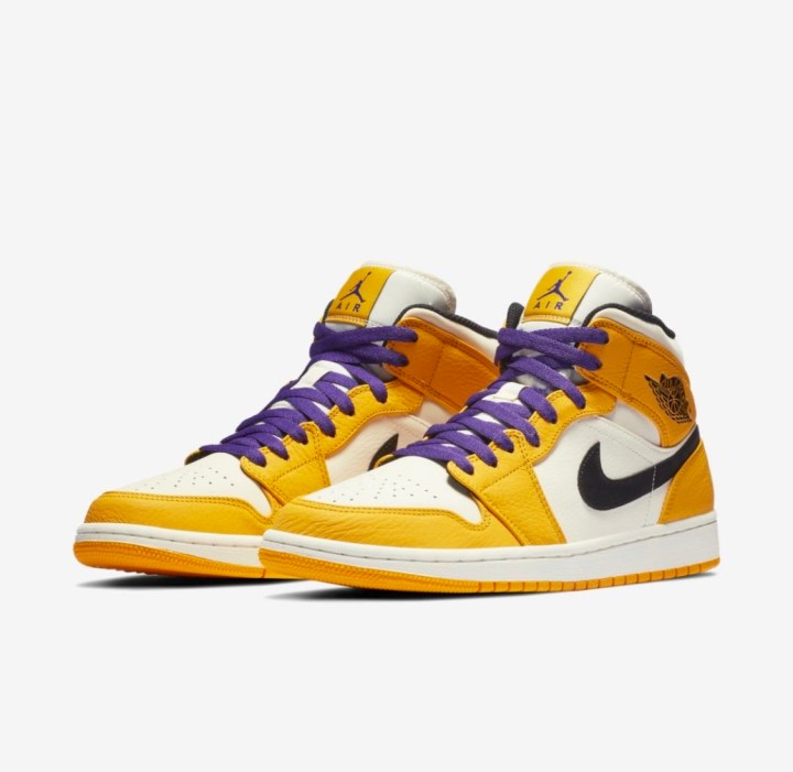 release date: 3941a e58ab The Air Jordan 1 Mid SE  Rivalry Pack  Continues with a Lakers ...