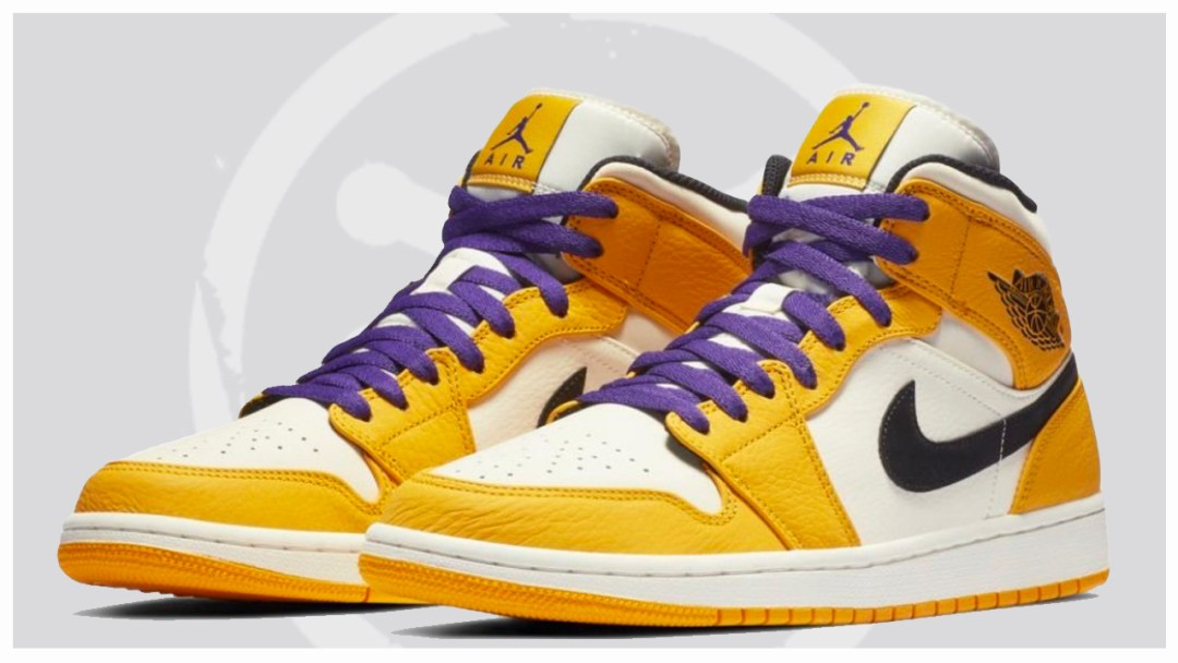 The Air Jordan 1 Mid SE  Rivalry Pack  Continues with a Lakers ... adac1bc7c