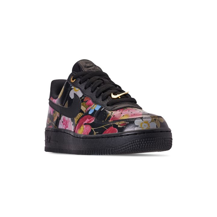 NIKE WOMENS AIR FORCE 1 '07 LXX BLACK:BLACK-METALLIC GOLD 2