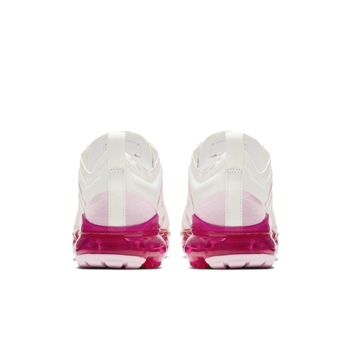 NIKE AIR VAPORMAX 2019 SUMMIT WHITE:SUMMIT WHITE-LASER FUCHSIA-PINK RISE 4