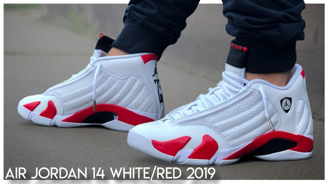 815f43989ffa96 Air Jordan 14 Retro OG White Varsity Red 2019