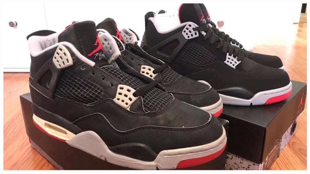 meet ac1d2 63a3b Air Jordan 4  Black Cement  1989 Original Vs 2019 Retro - WearTesters