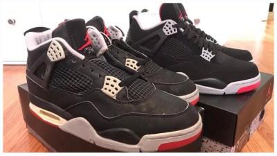 c4eaee59679c13 Air Jordan 4  Black Cement  1989 Original Vs 2019 Retro