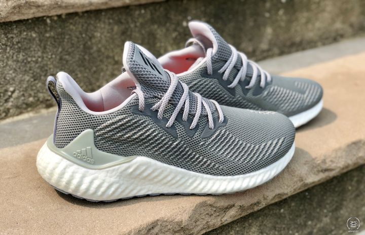 cc888b52f For fans of the original AlphaBounce can now have way more cushion with the brand  new implementation of an all Boost Midsole. The upper is similar to the ...