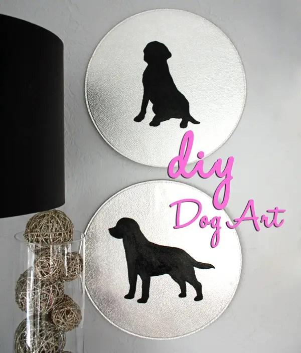 DIY Dog silhouette art craft