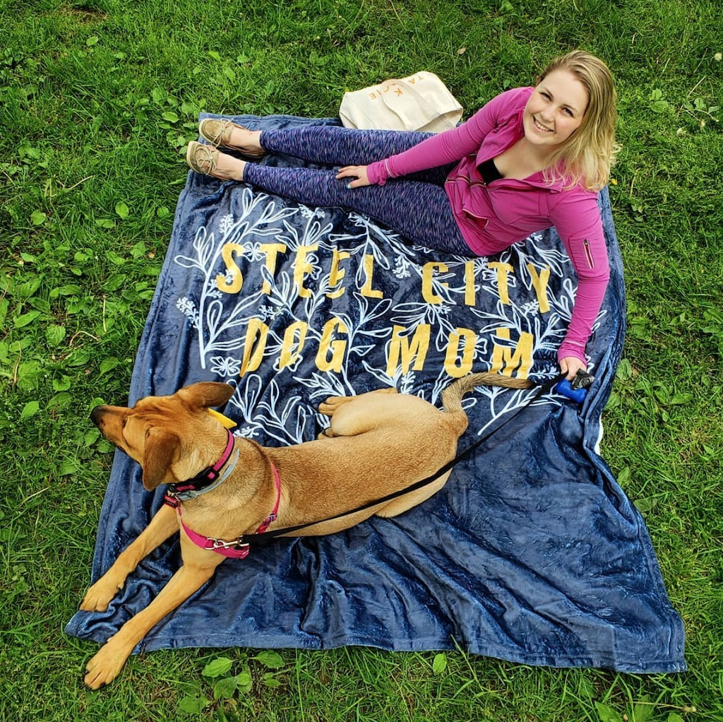 Zoey May the Dane Steel City Dog Mom Blanket Wear Wag Repeat