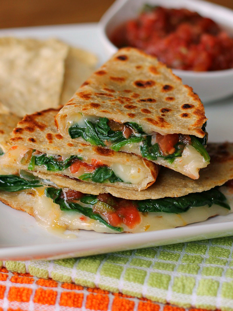 Spicy Spinach Quesadilla Recipe  The Weary Chef