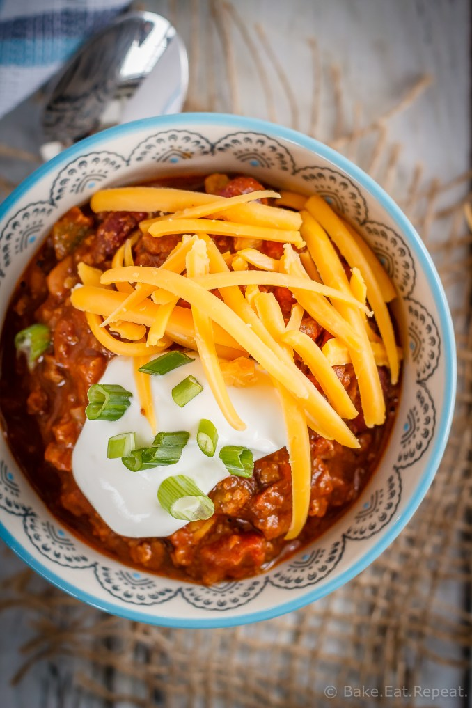 Slow Cooker Chili - The Weary Chef