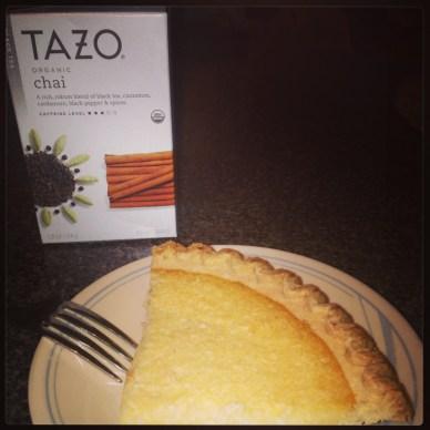 ^^ I'm thankful for Chai tea and coconut custard pie on Grandma's china when I'm sick.