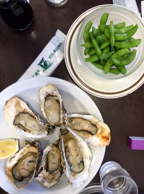 Not my oysters (don't worry!), but yum!