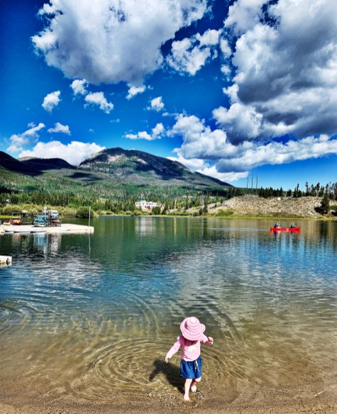 frolicking in the water at frisco bay marina, colorado