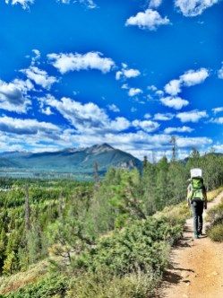 leaving the trail at Old Dillon Reservoir Trail