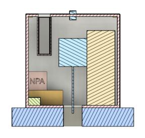 Lander cutaway render for PDR