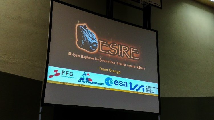 Team Orange's title slide showing our Desire logo.