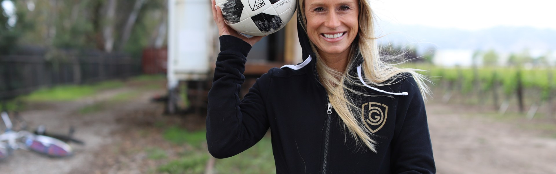 tracy hamm holding a soccer ball
