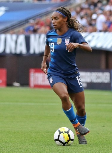 Crystall Dunn in action for the United States National Team
