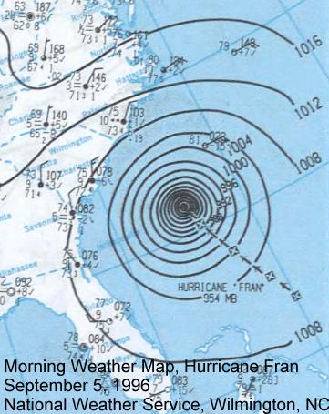 Maps Of Hurricane : hurricane, Storms, Wilmington,, North, Carolina's, History