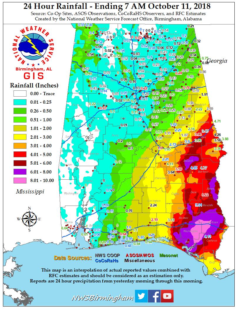 Map Of Hurricane Michael Damage : hurricane, michael, damage, Hurricane, Michael, October