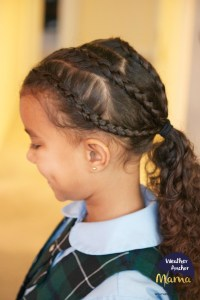 Curly Hairstyle of the Week: Dutch Braids into a Ponytail ...