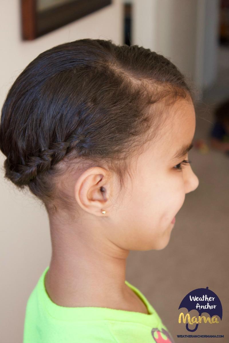 side dutch braid bun curly biracial hair mixed hair care1
