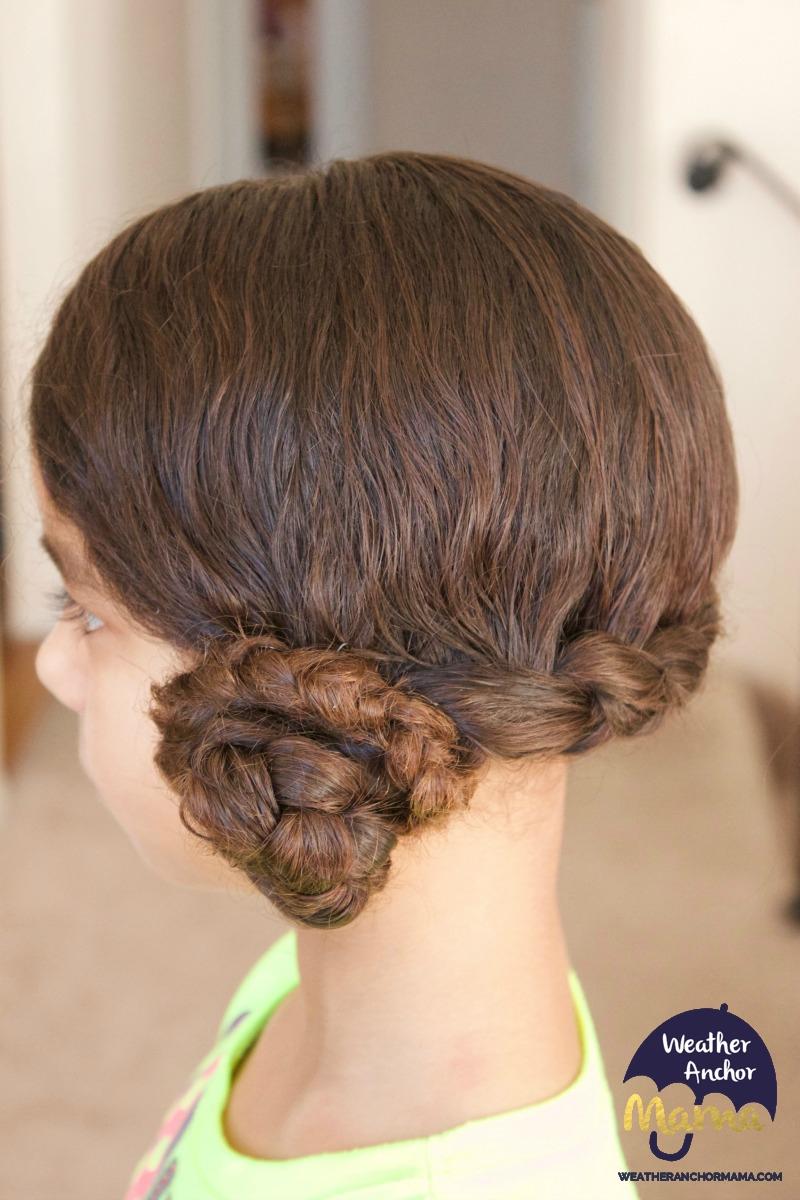 side dutch braid bun curly biracial hair mixed hair care4
