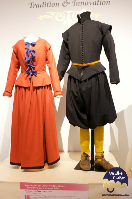 Plymouth historical museum Pilgrim clothing wedding and innovation family vacation
